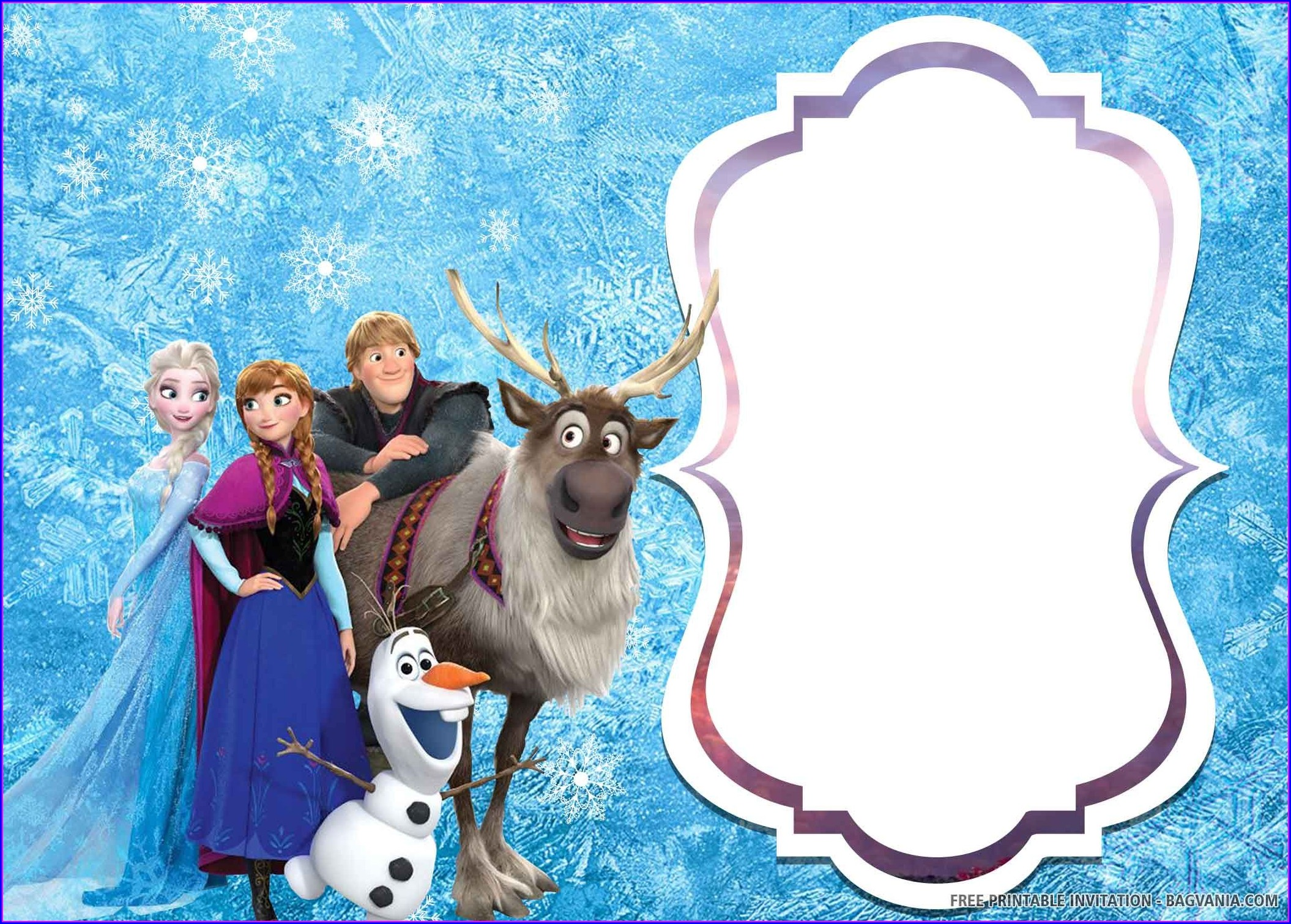 Frozen 2 Birthday Invitations Online Free