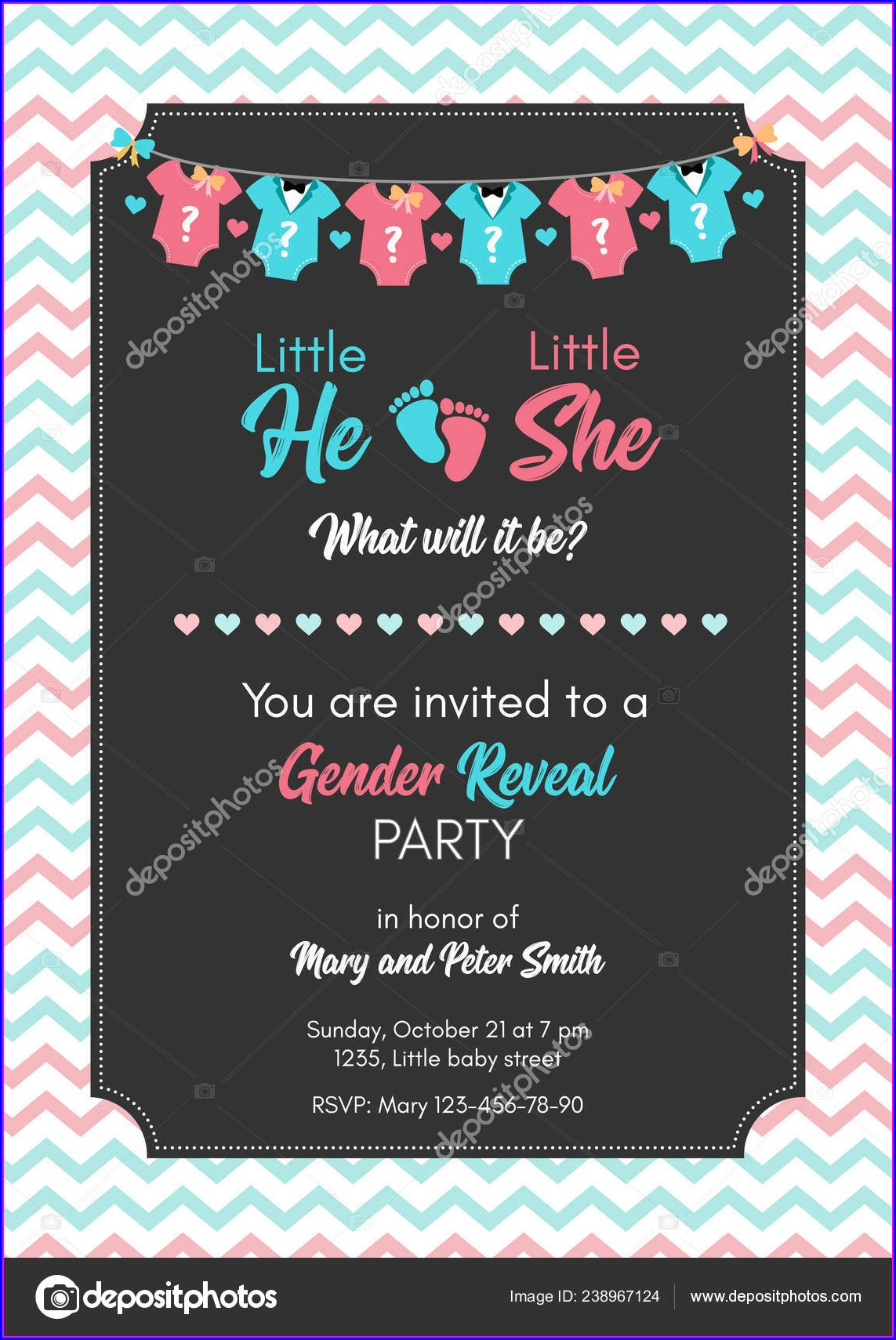 Gender Reveal Invitations Free Spanish