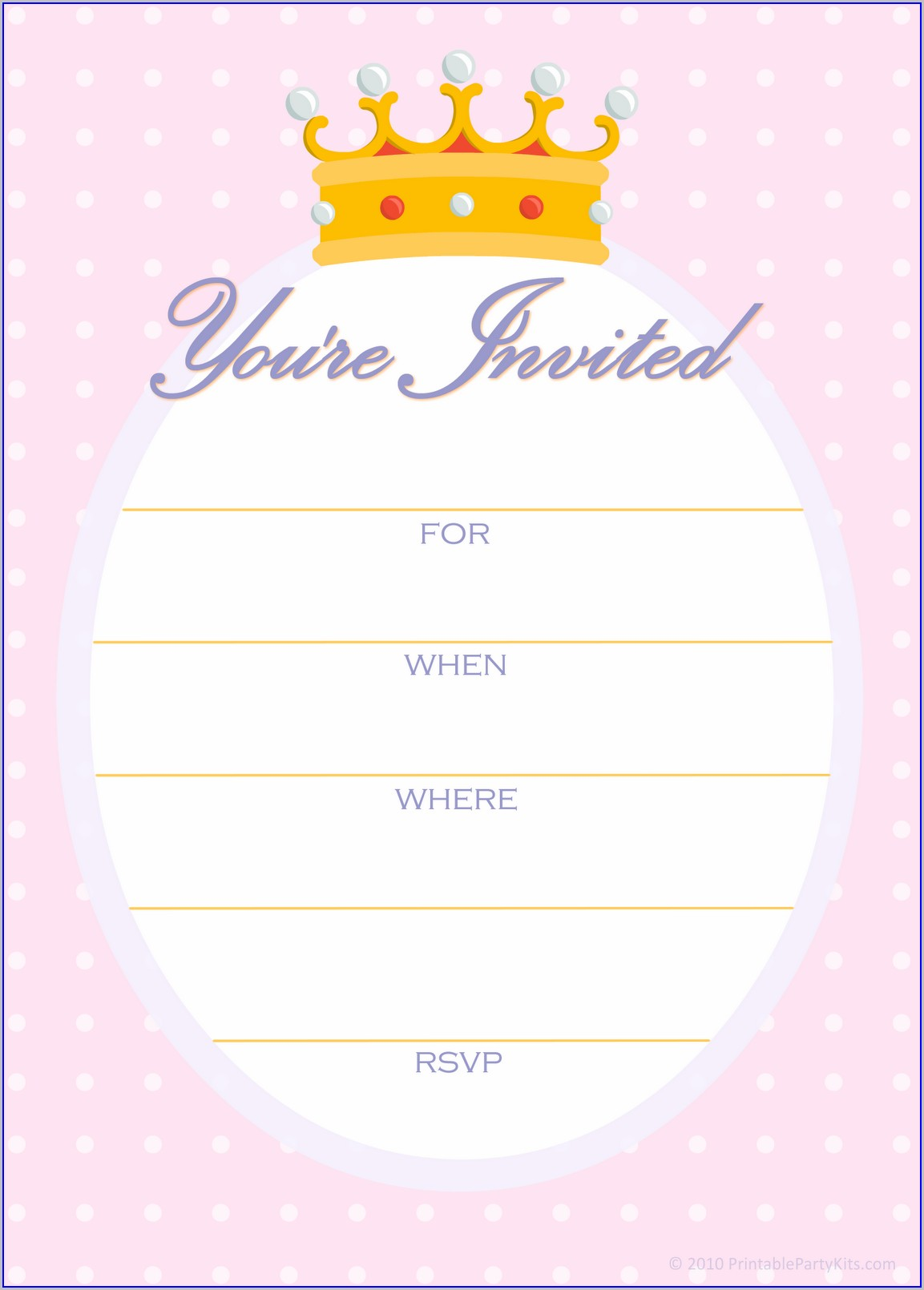 Girl Birthday Invitations Templates (free)