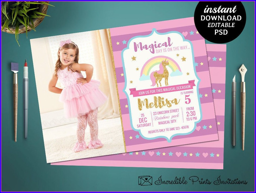 Girls Birthday Invitations Templates