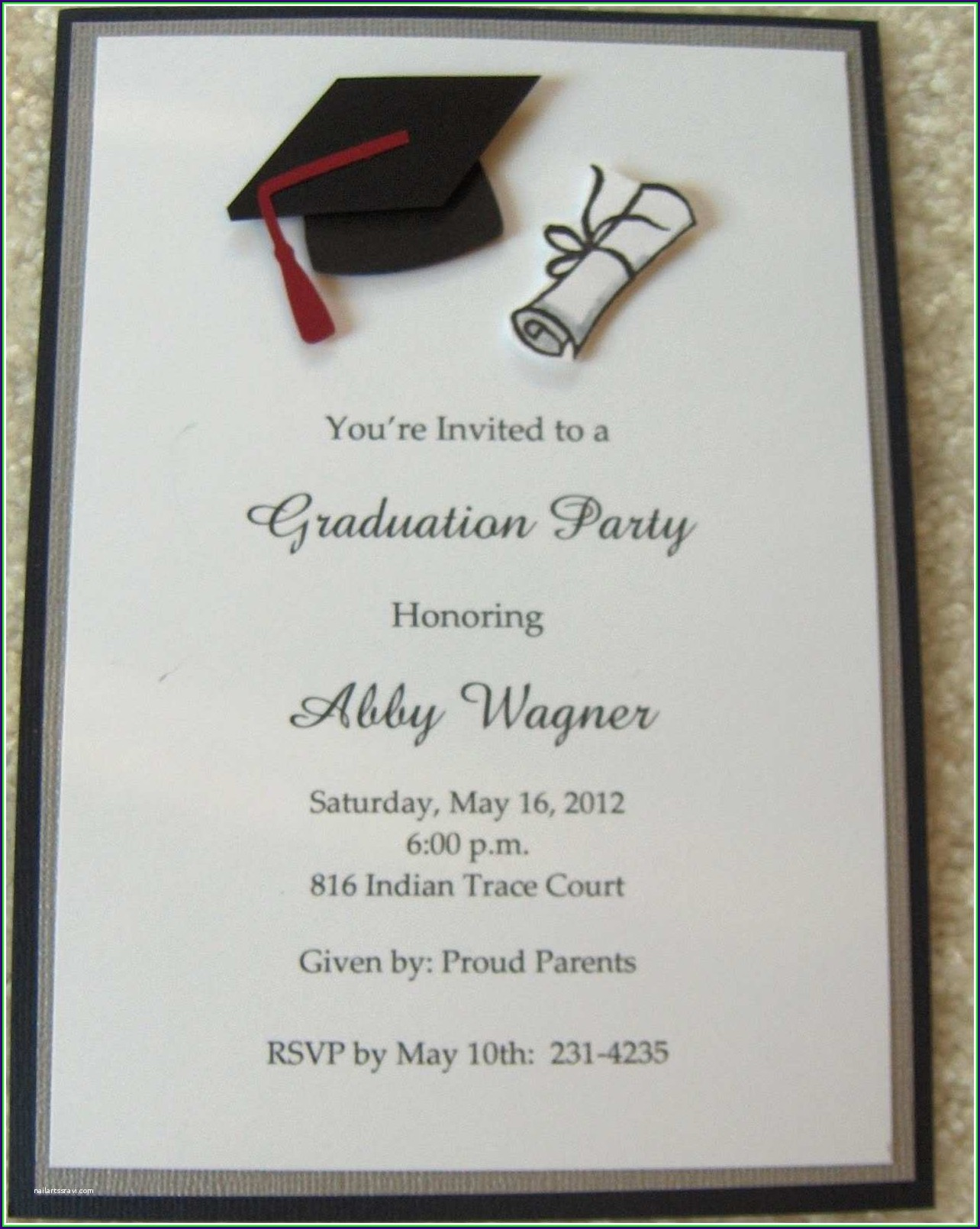 Graduation Invitation Card Sample