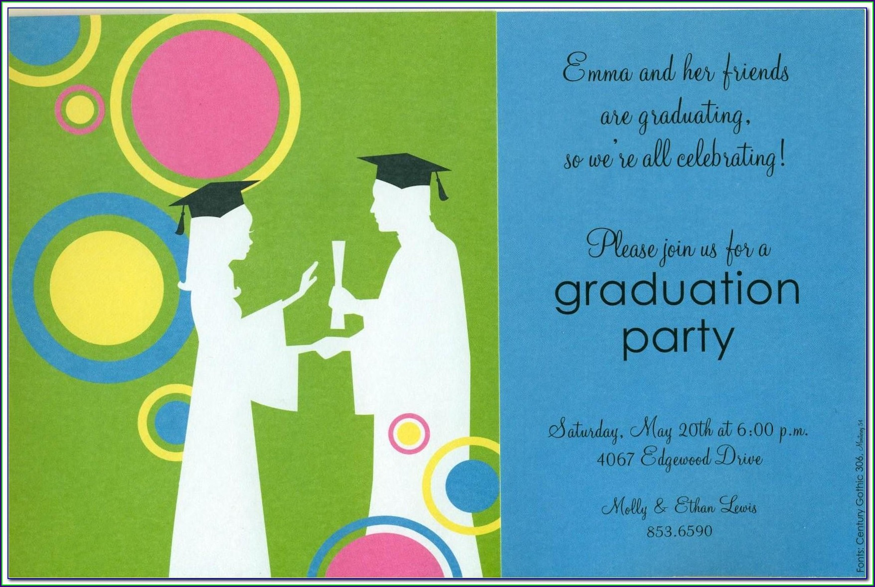 Graduation Invitation Card Template Free Download