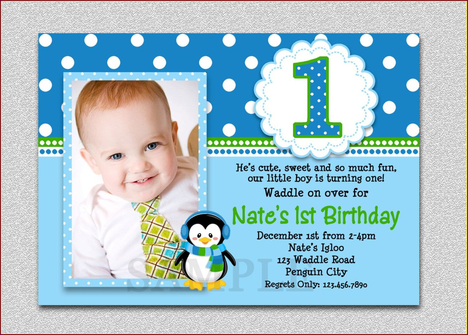 Handmade Unique 1st Birthday Invitations Boy