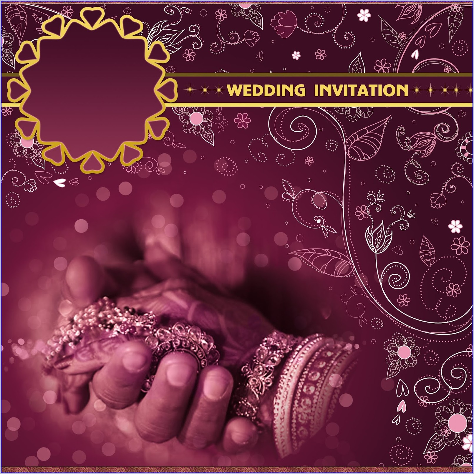 Hindu Wedding Invitation Templates Indian