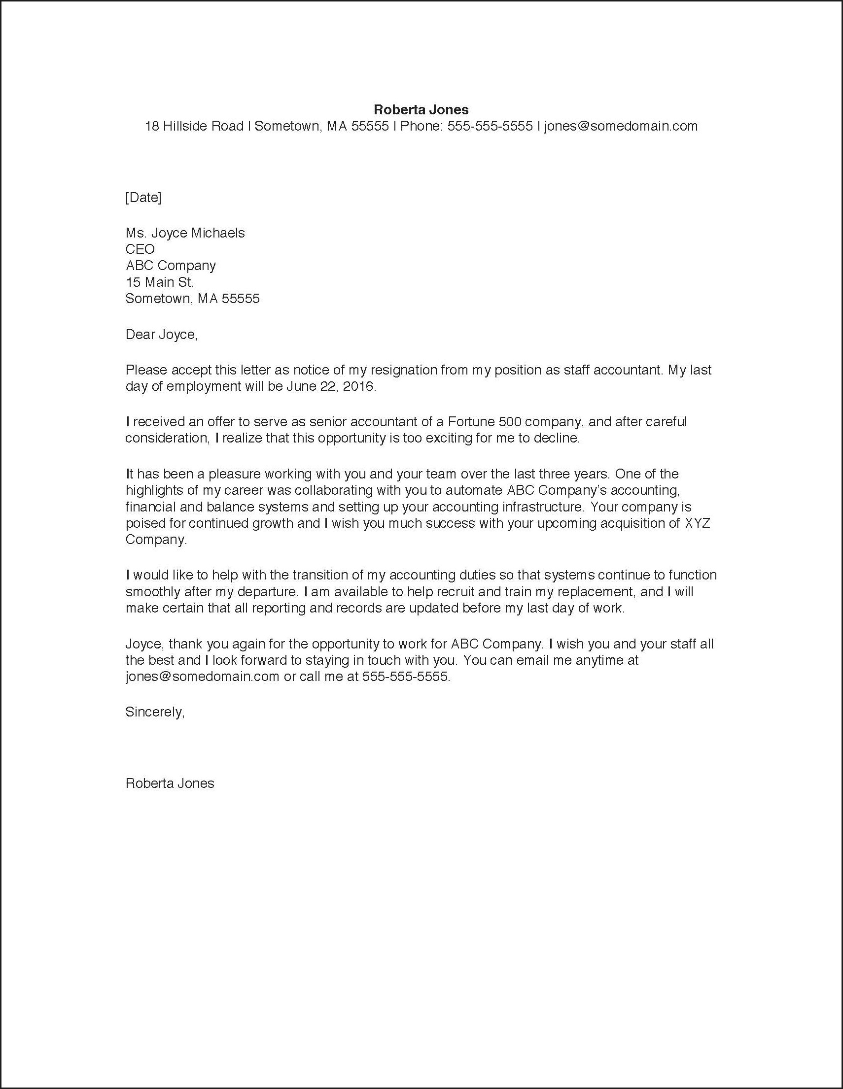 How To Write Resignation Letter Template