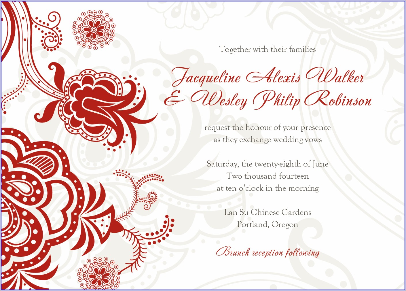 Indian Wedding Invitation Templates Png