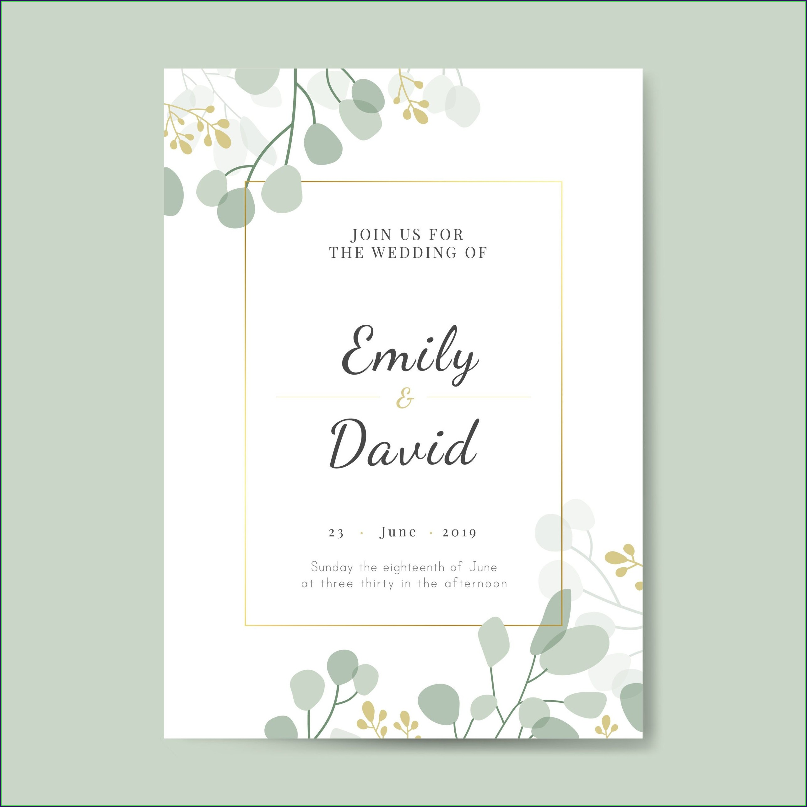 Invitation Card Design Template Free Download