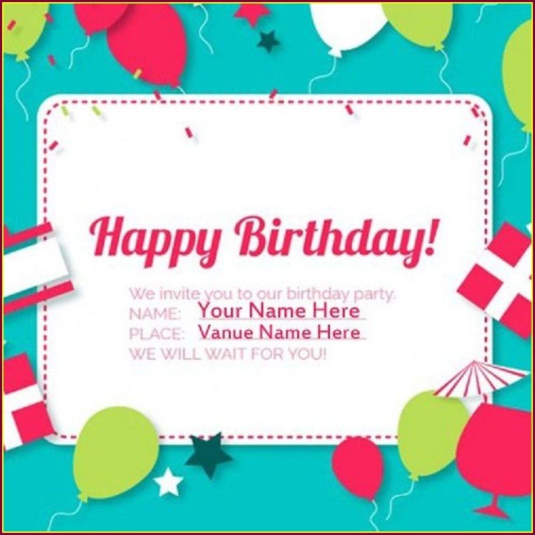 Kids Birthday Create Birthday Invitation Card Online Free