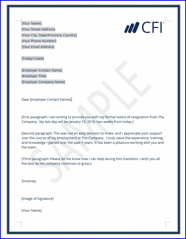 Letter Format How To Write Resignation Letter To Company