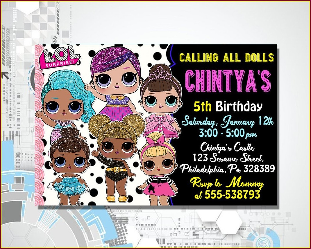Lol Doll Birthday Invitations Free