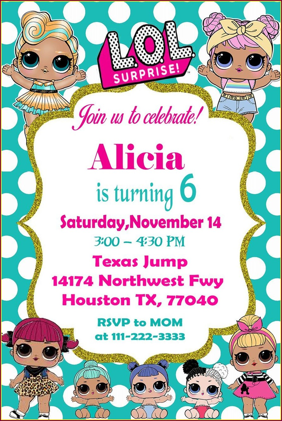 Lol Surprise Doll Party Invitations