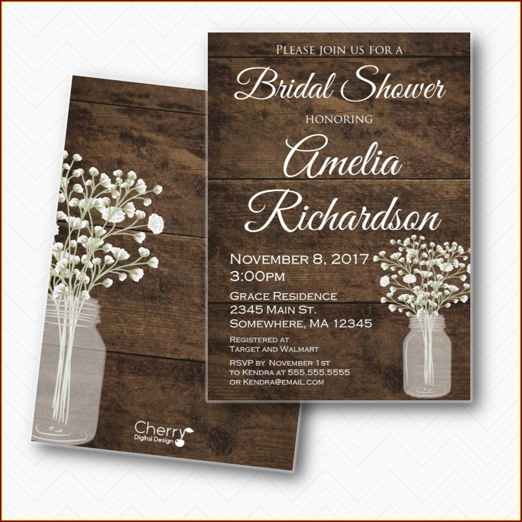 Mason Jar Wedding Invitations Walmart