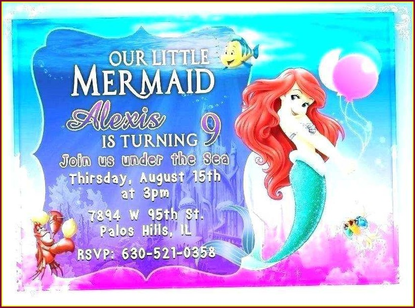 Mermaid Invitation Template Blank