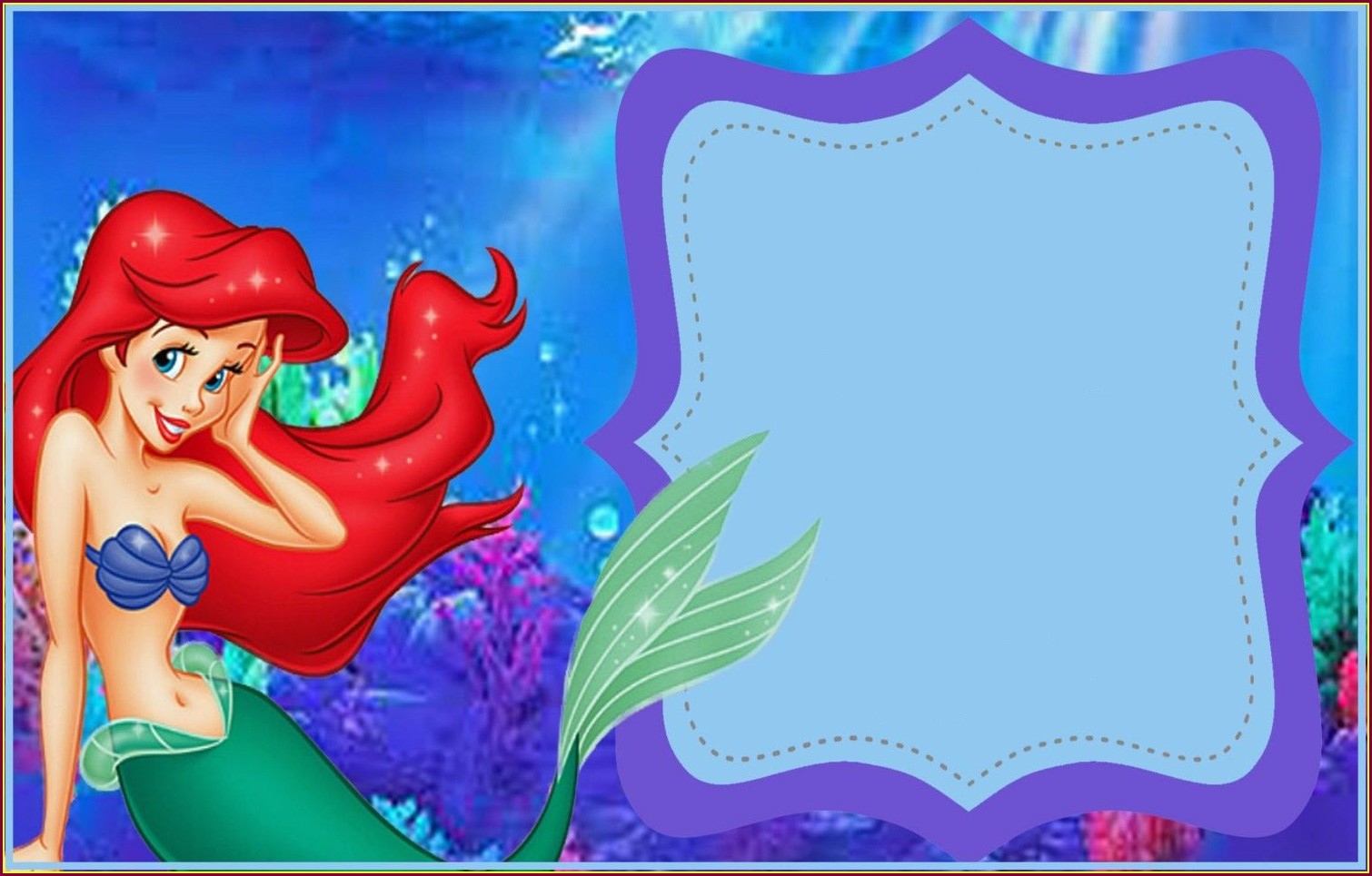 Mermaid Invitation Template Free