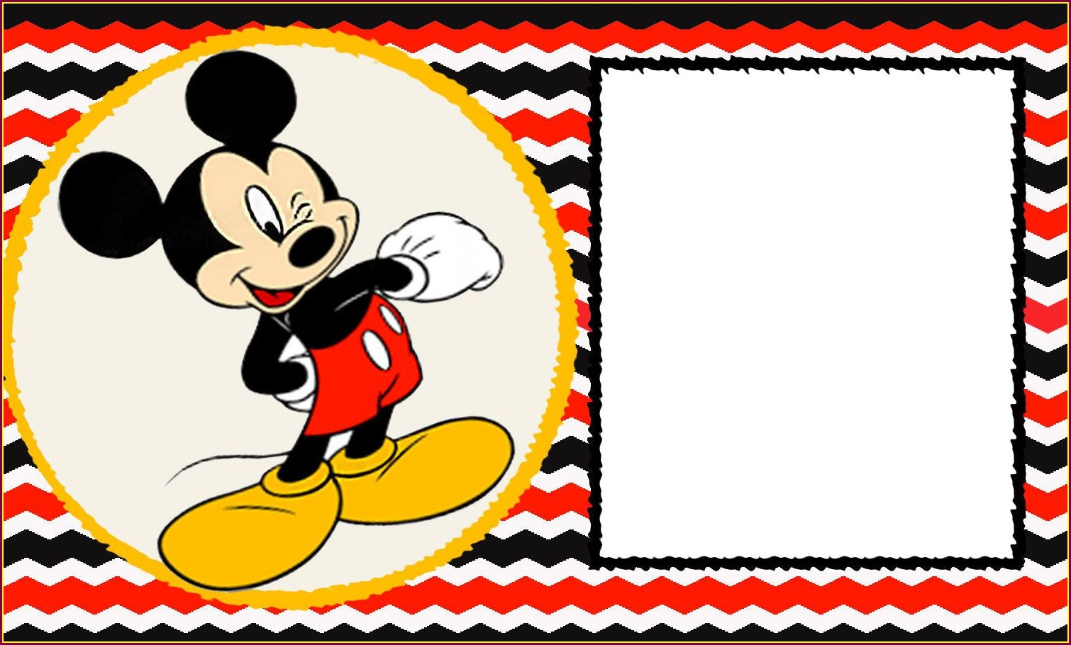 Mickey Mouse 1st Birthday Invitations