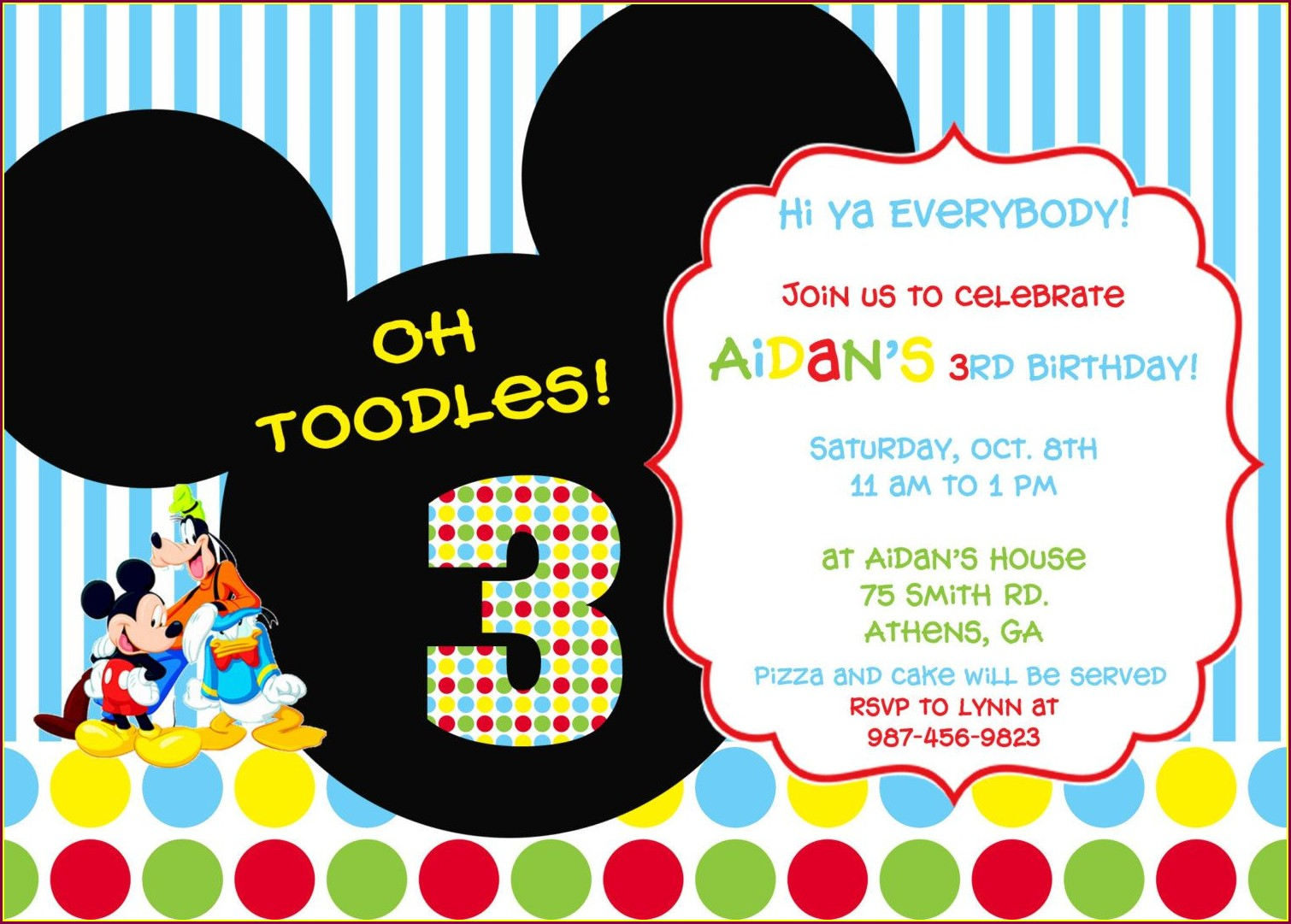 Mickey Mouse Clubhouse Party Invitations