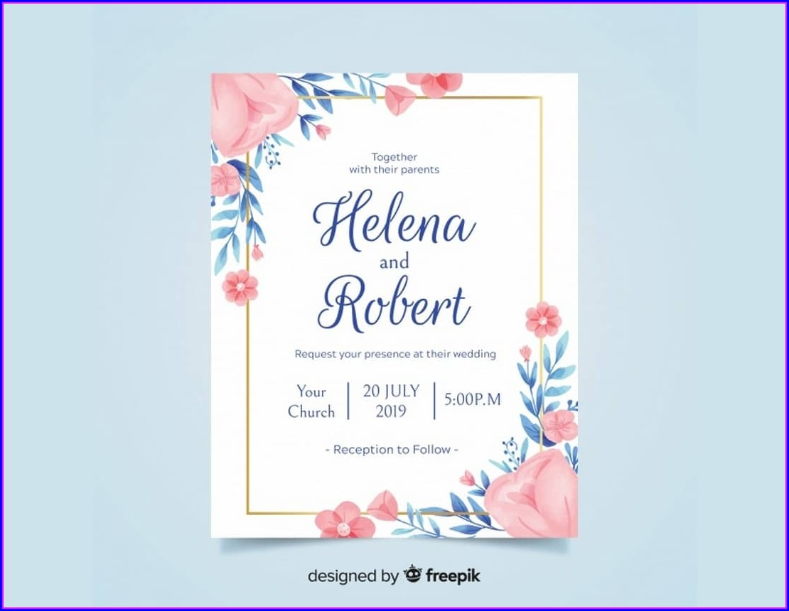 Microsoft Word Editable Free Wedding Invitation Templates For Word