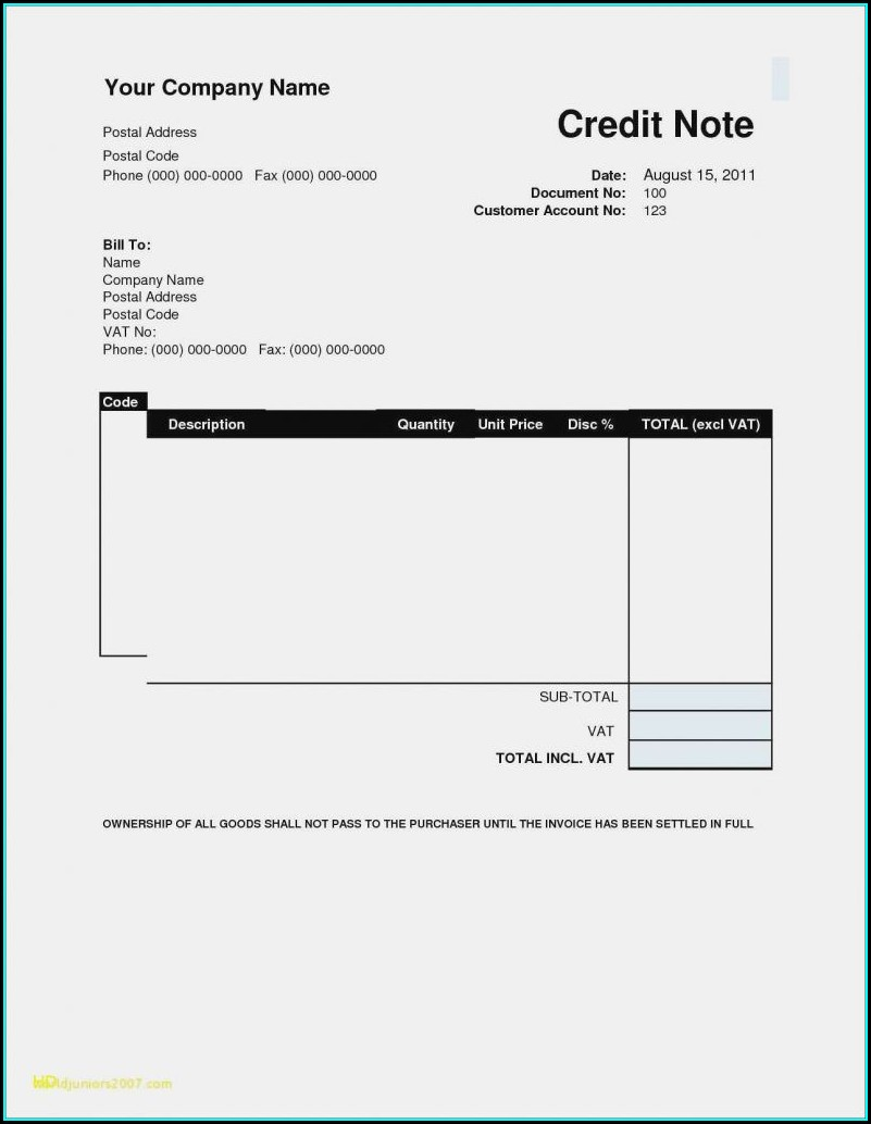 Microsoft Word Free Blank Invoice Template Word