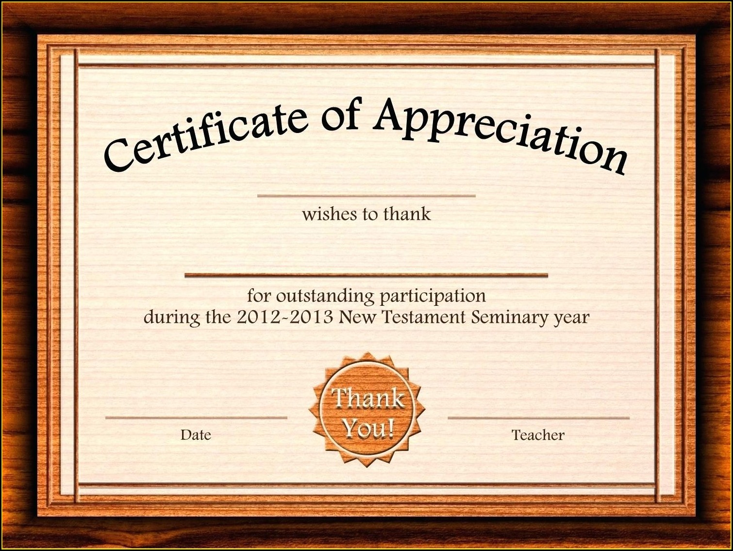 Microsoft Word Free Editable Certificate Of Appreciation Template Word