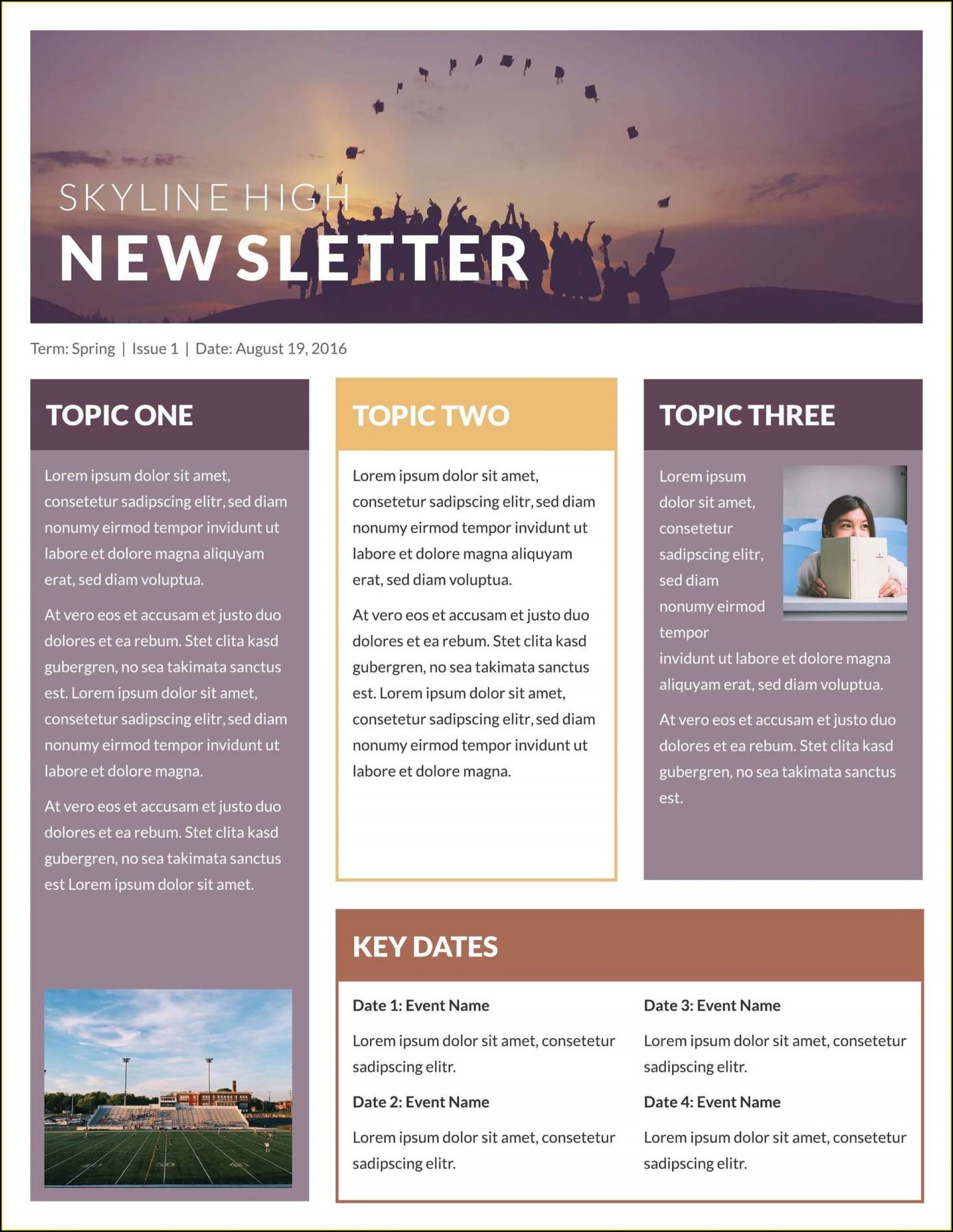 Microsoft Word Newsletter Templates Free