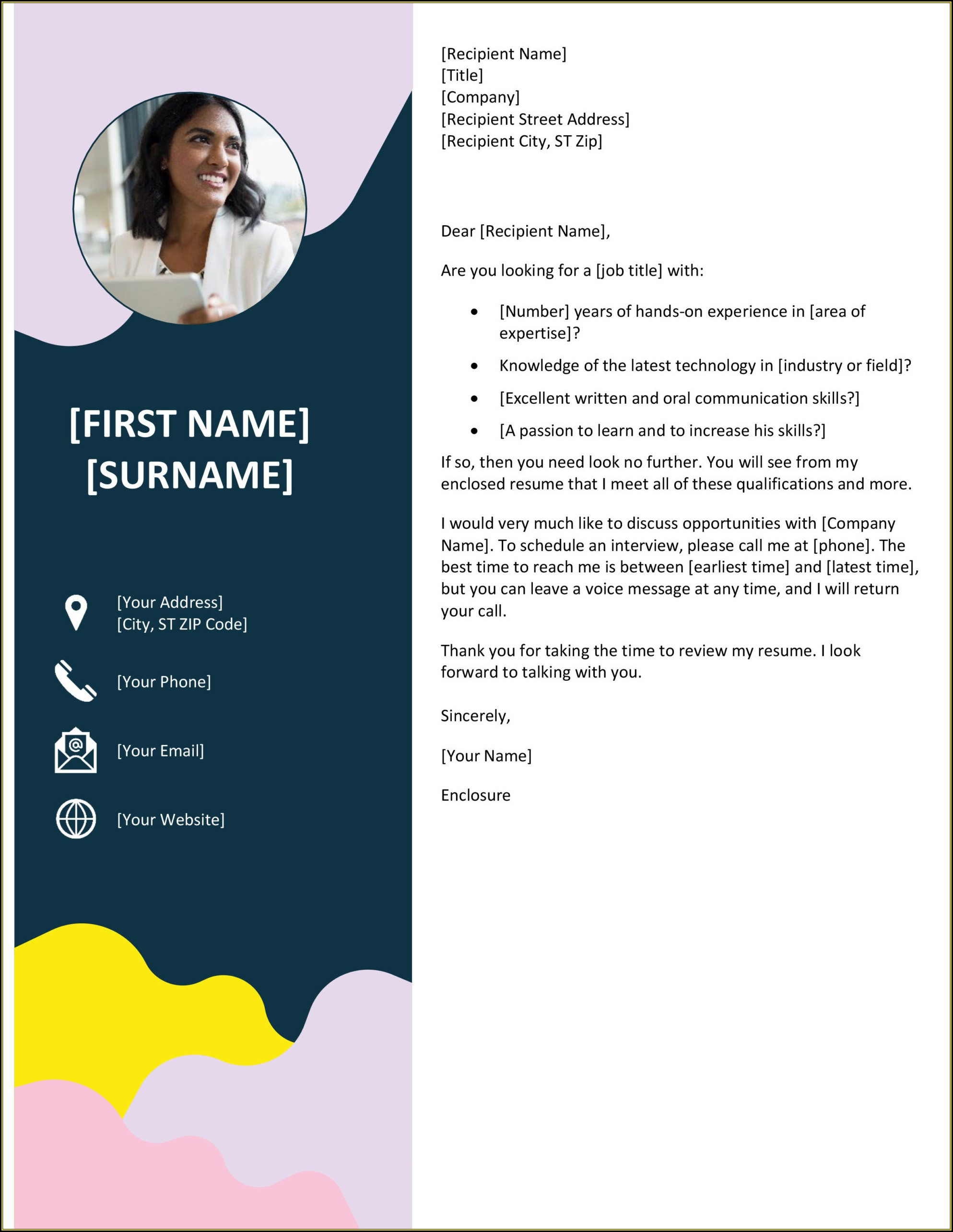 Microsoft Word Templates Resume Cover Letter
