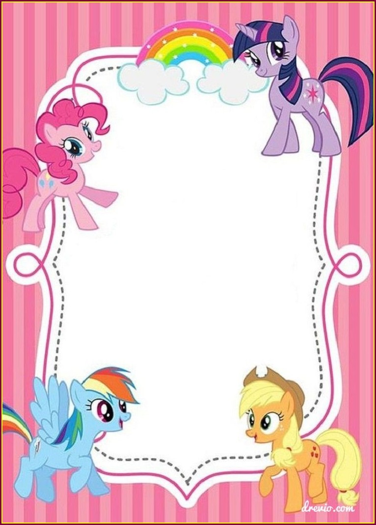 My Little Pony Birthday Invitations Editable