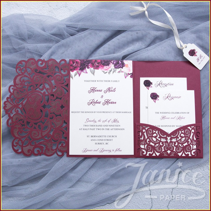 Navy Blue Wedding Invitations Kits