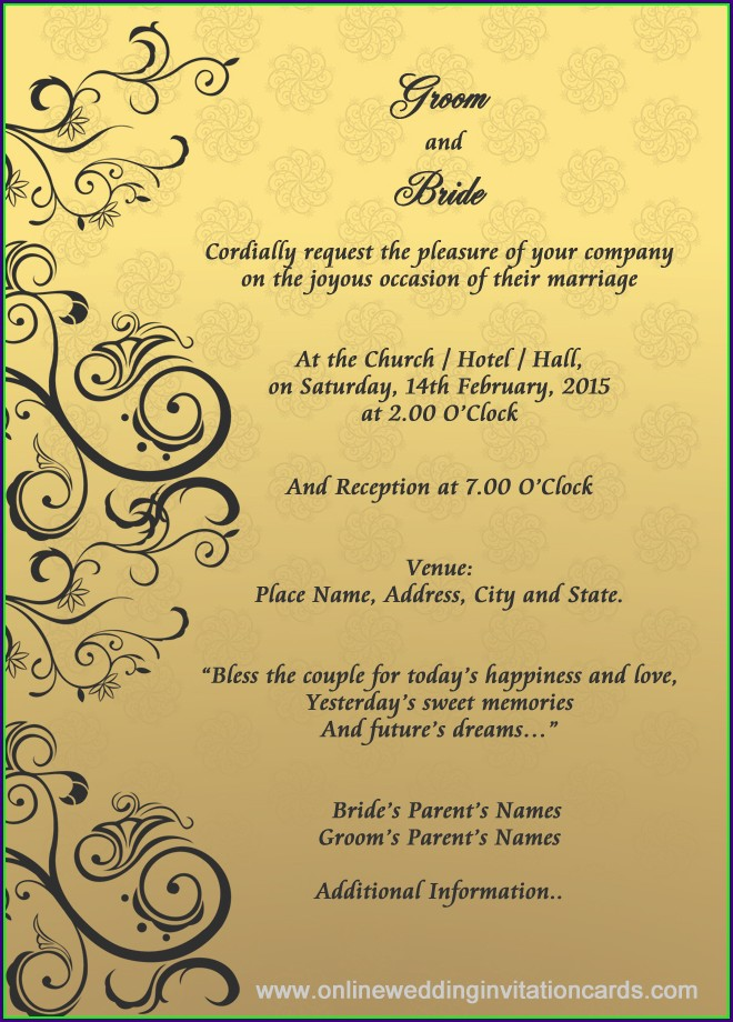 Online Wedding Invitation Templates For Friends