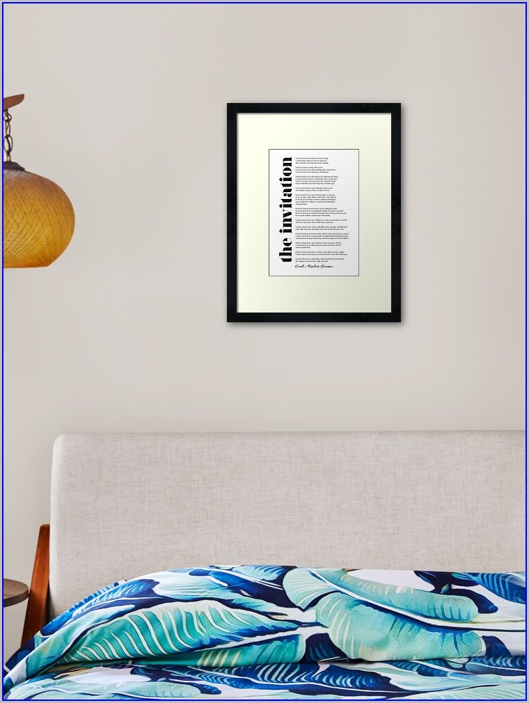 Oriah Mountain Dreamer The Invitation Framed