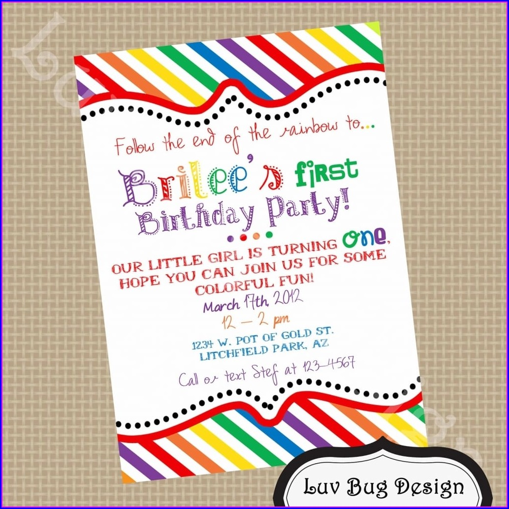 Party Birthday Invitation Text Message