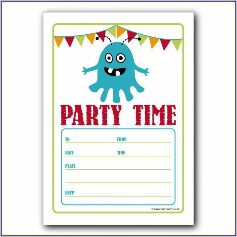 Party Free Online Invitation Templates