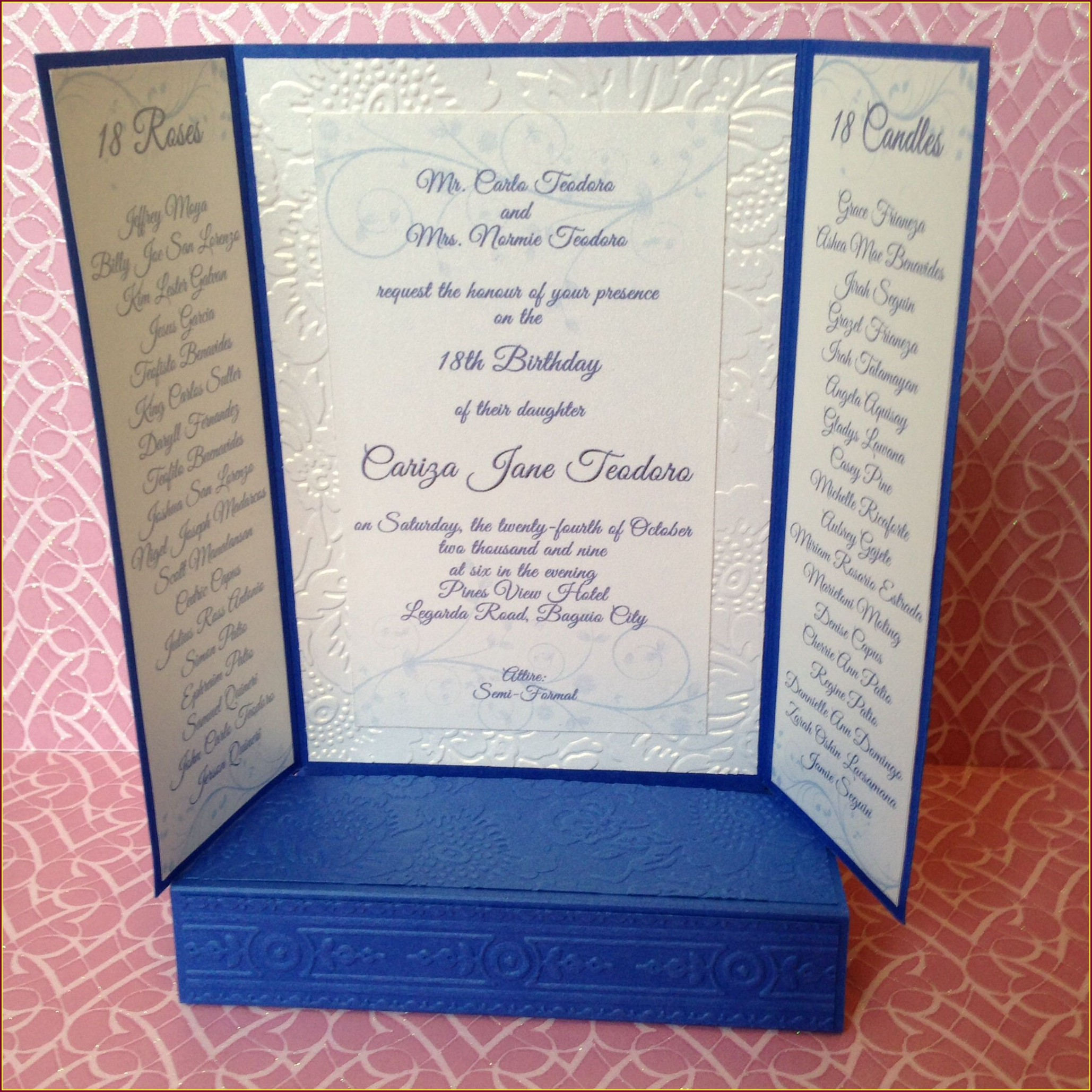 Personalized 18th Birthday Debut Invitations