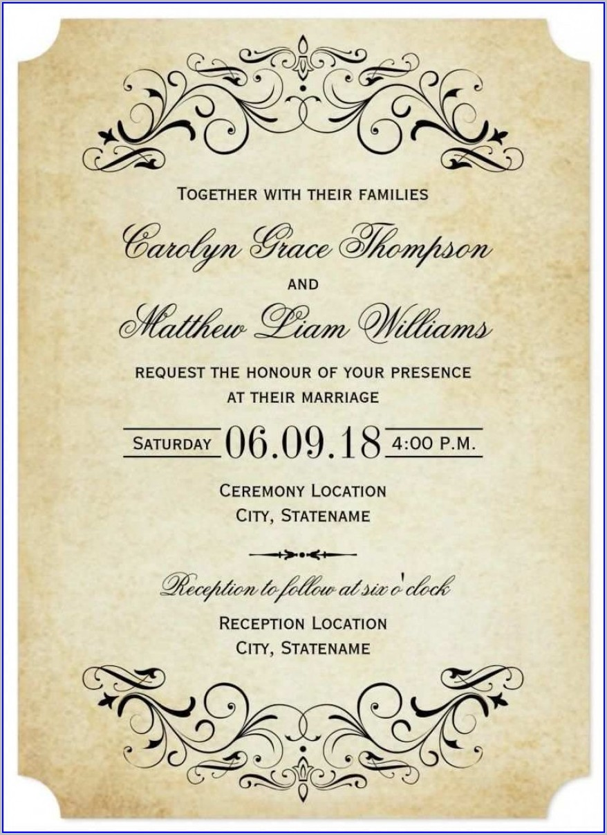 Photoshop Wedding Invitation Templates Png Free Download