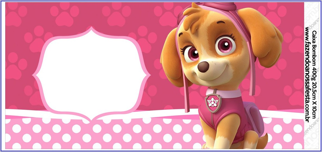Printable Blank Paw Patrol Birthday Invitations