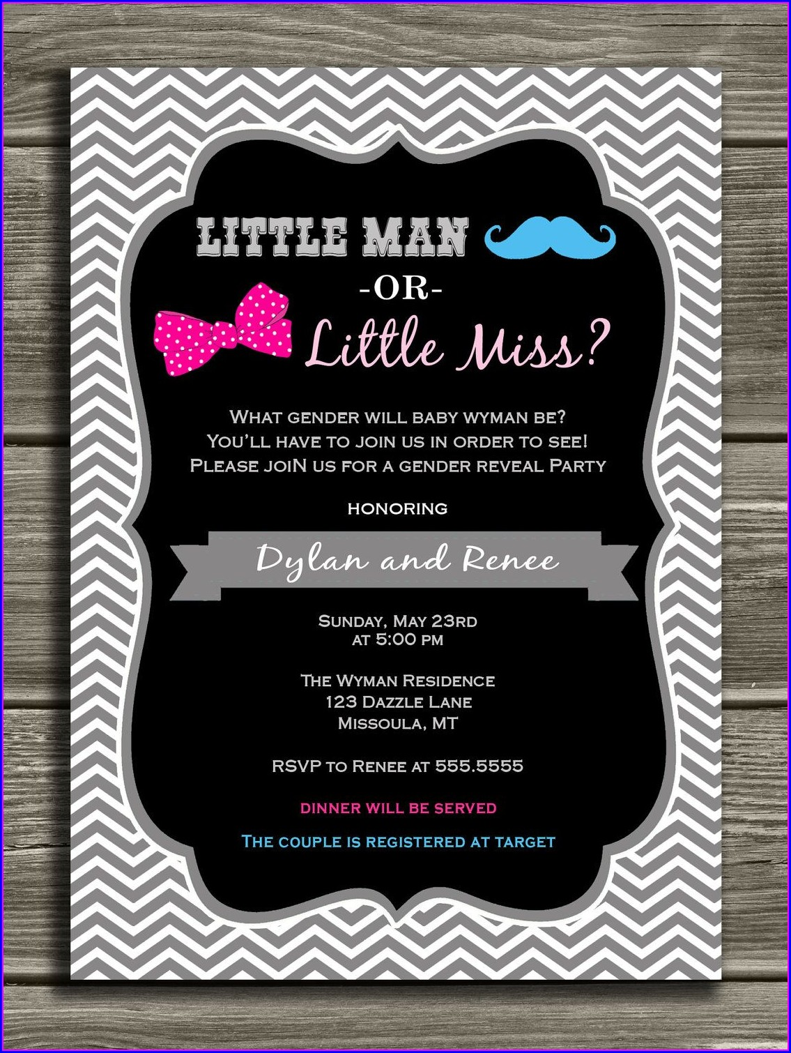 Printable Gender Reveal Invitations Free