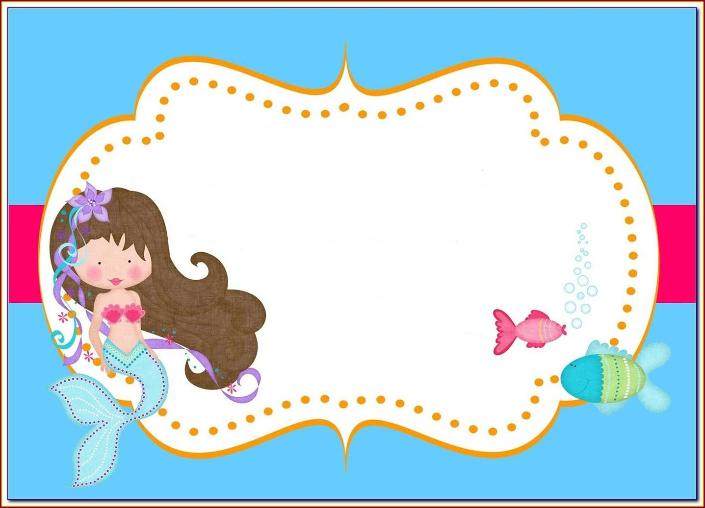 Printable Mermaid Invitation Template