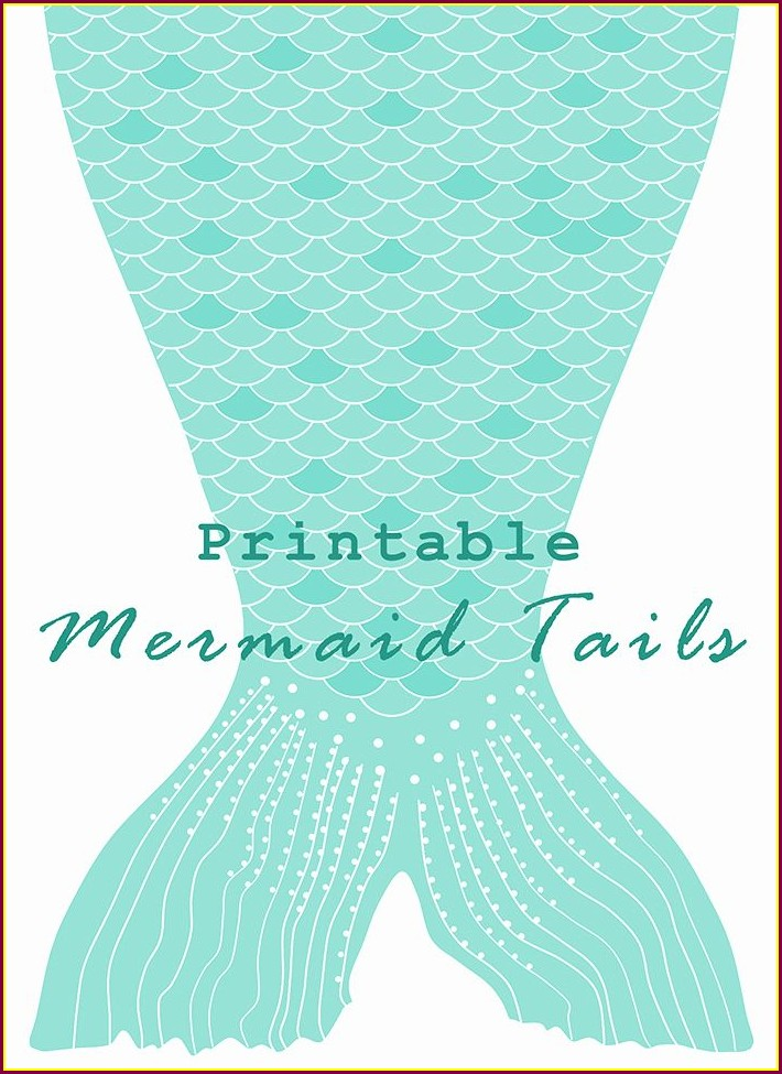 Printable Mermaid Tail Invitation Template