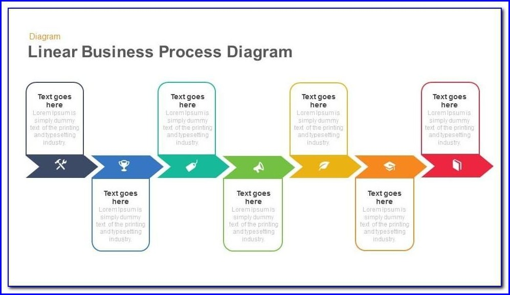 Process Flow Diagram Powerpoint Template Free