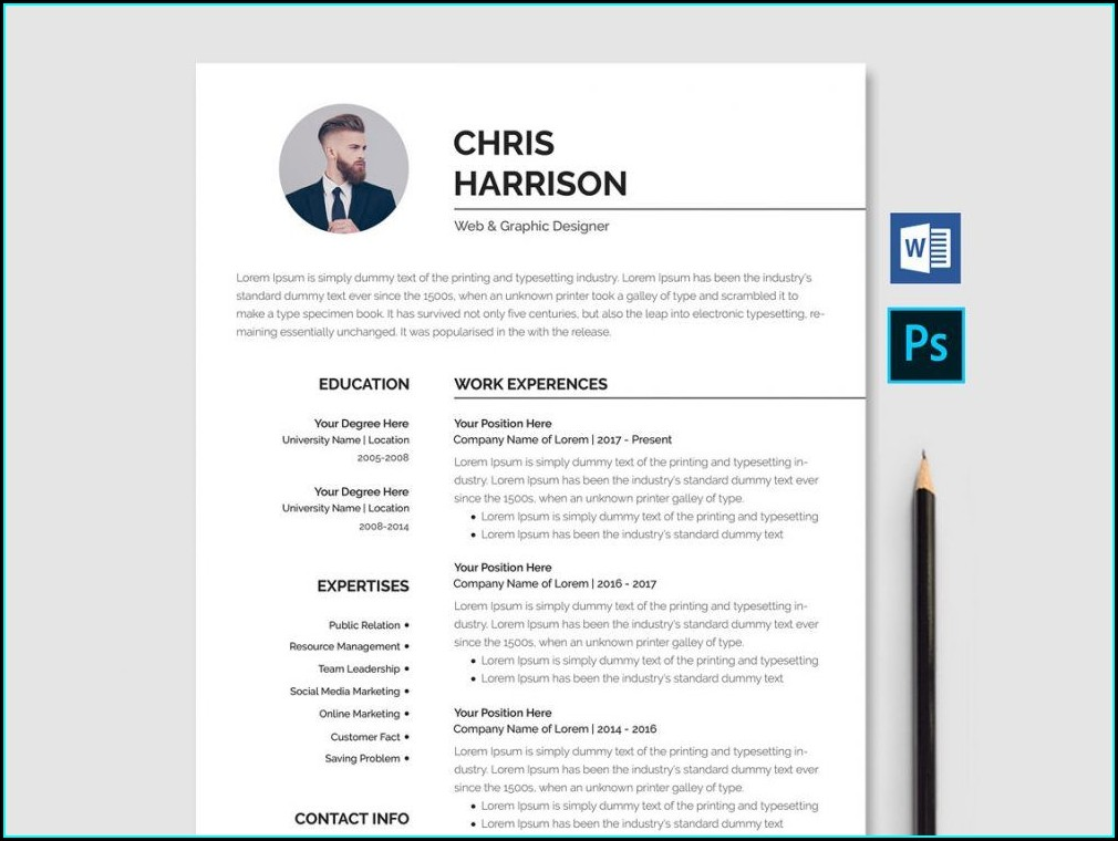 Professional Downloadable Word Document Free Cv Template Word