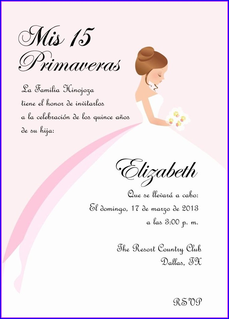 Quinceanera Invitation Wording Samples
