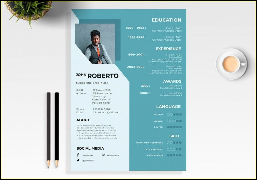 Resume Template Word Free Download 2020