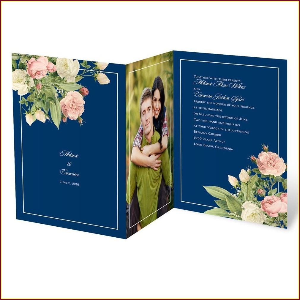 Royal Blue Wedding Invitations Templates