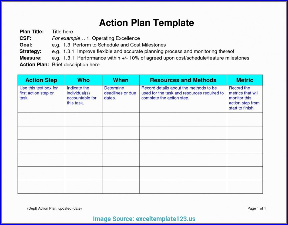 Simple Work Plan Template Word