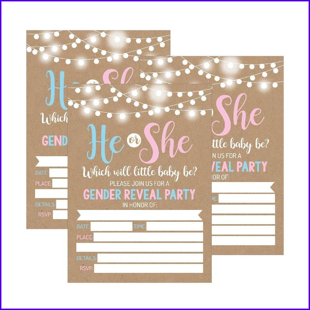 Soccer Gender Reveal Invitations Free