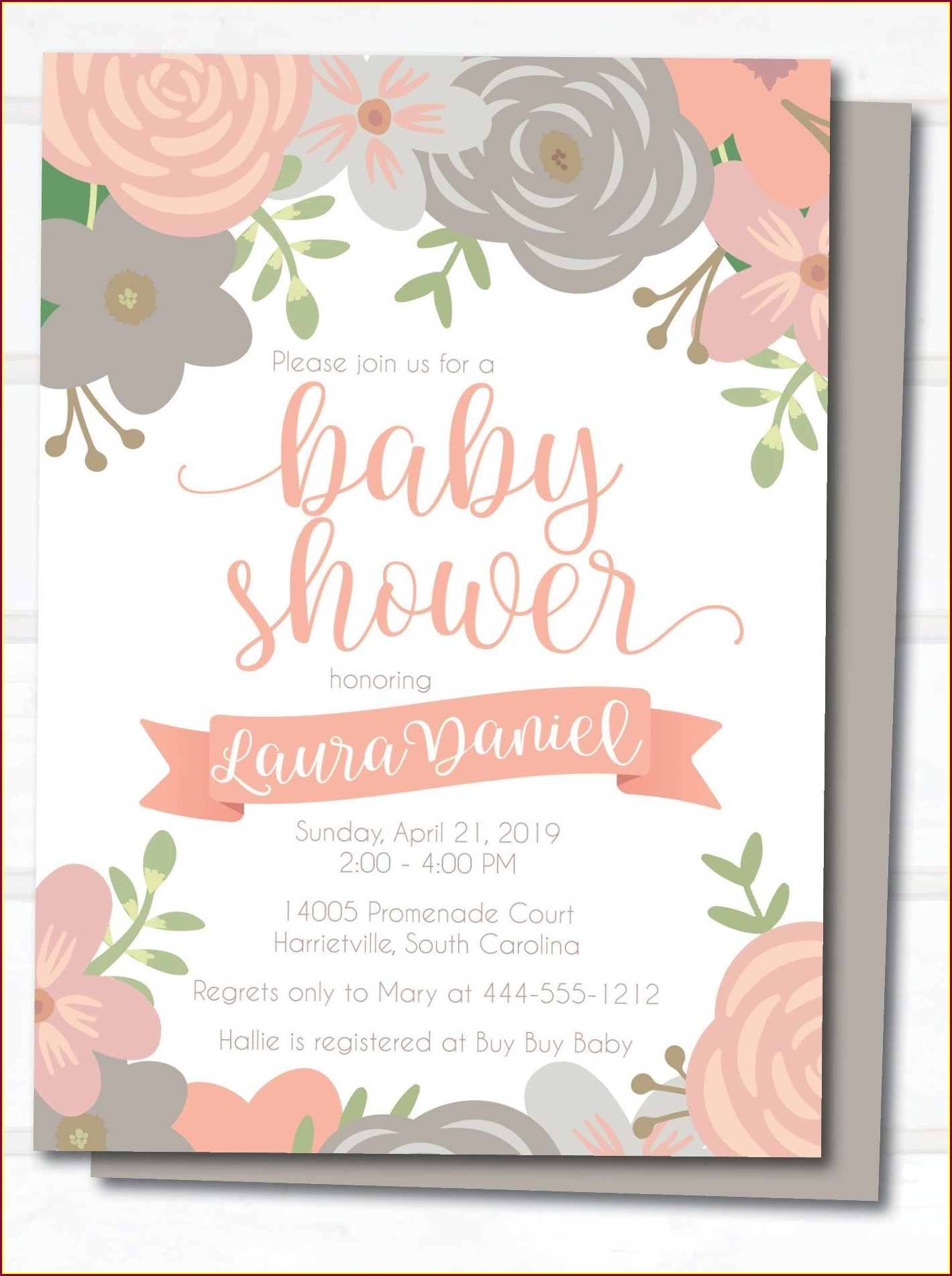 Sweet Baby Girl Invitations