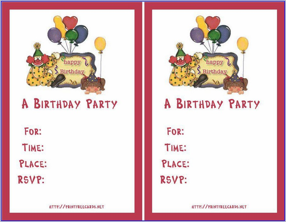 Template Free Online Birthday Invitations