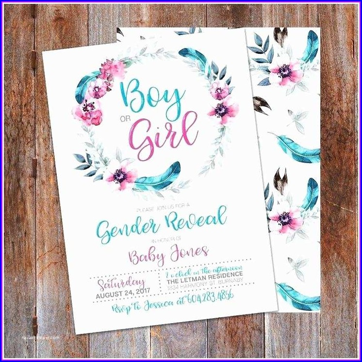 Template Gender Reveal Invitations Free
