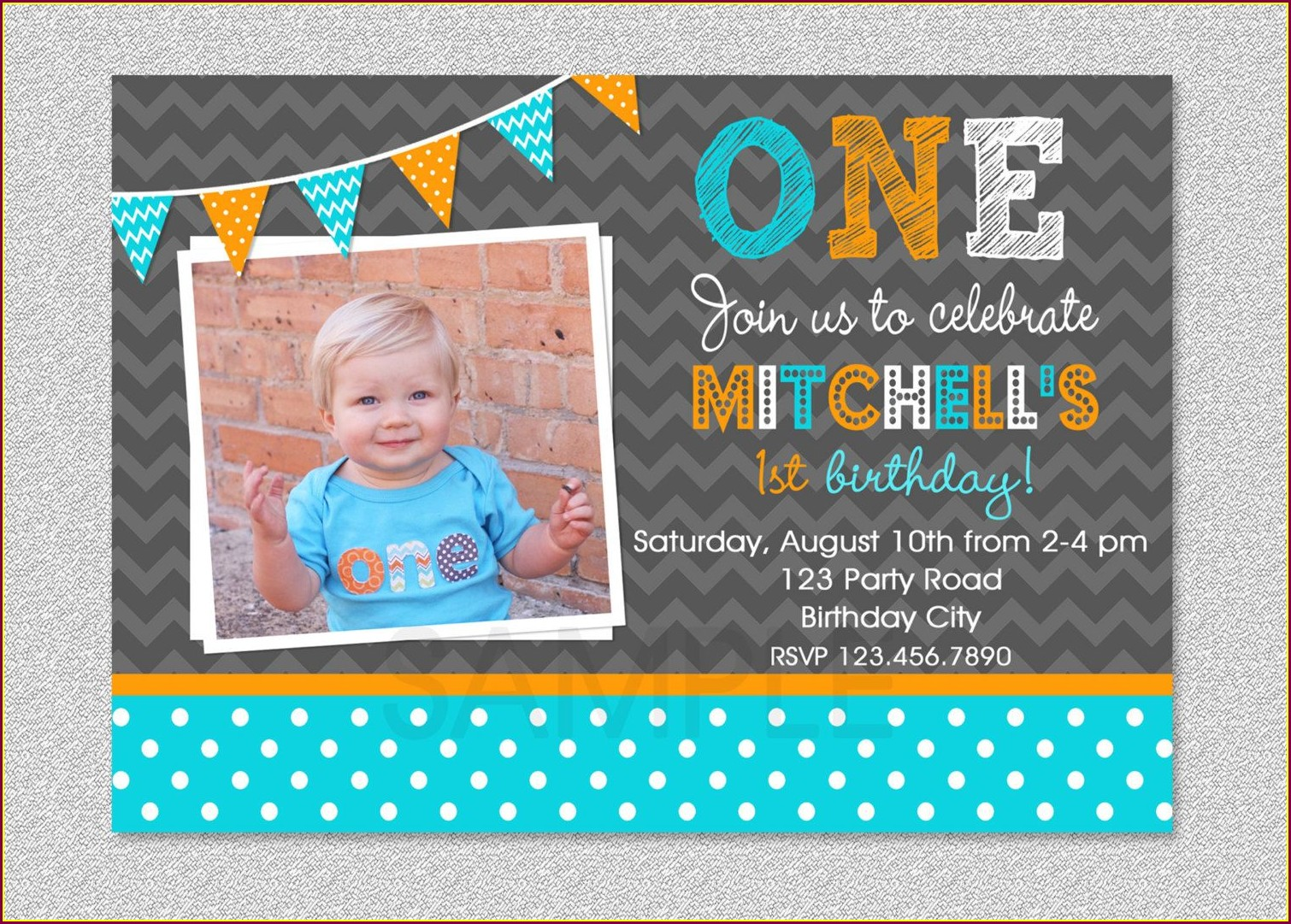 Template Unique 1st Birthday Invitations Boy