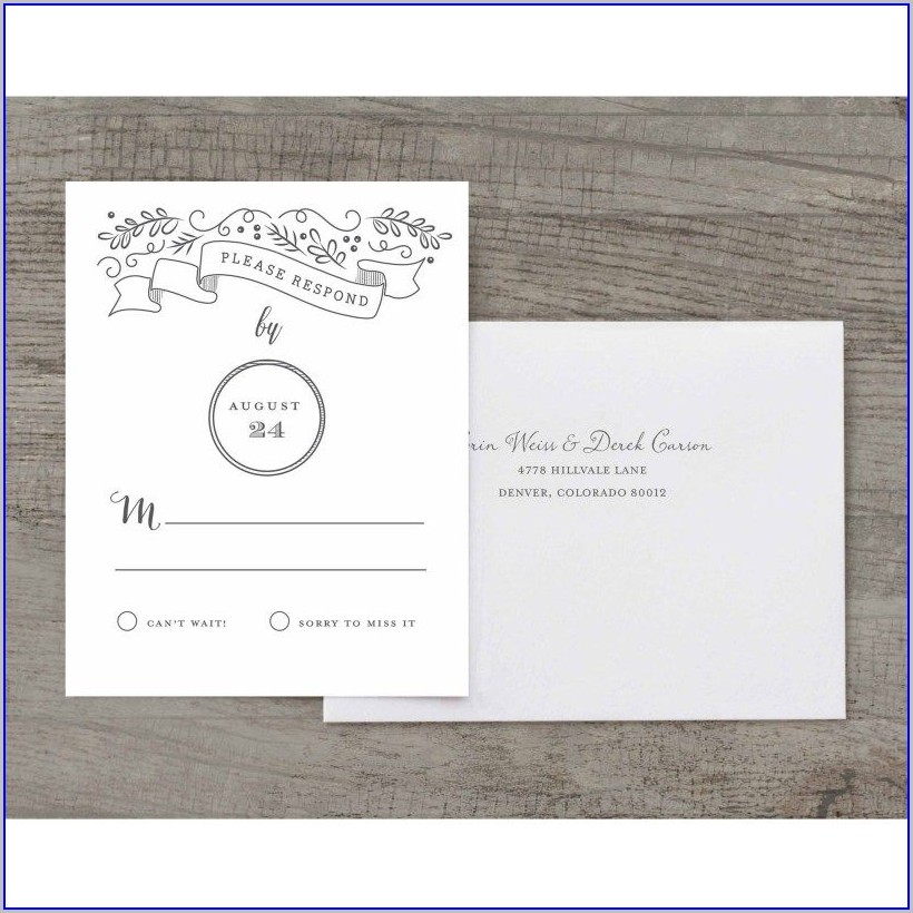 Walmart Wedding Invitations And Rsvp Cards