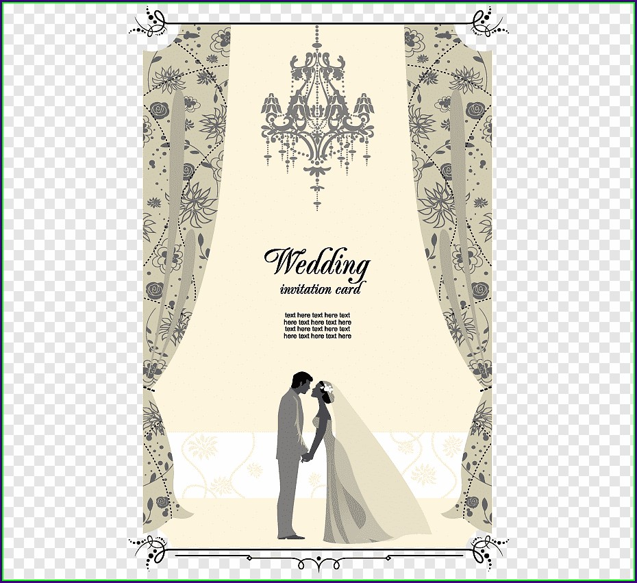 Wedding Invitation Card Template Png